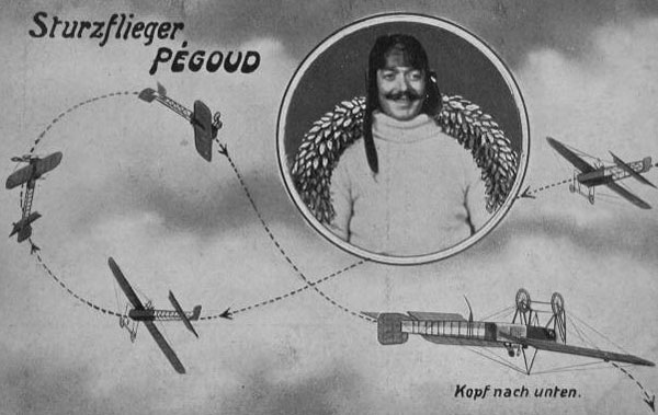 German Post Card Celebrating the Pegoud Loop